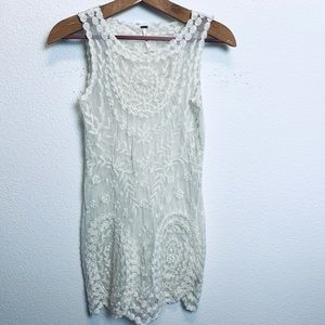 Free people lace mini dress size XS. EUC